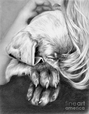 Behind Closed Paws Poster by Sheona Hamilton-Grant
