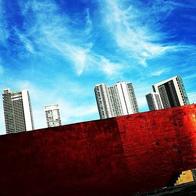 Behind Miami's Glamorous Skyline Poster