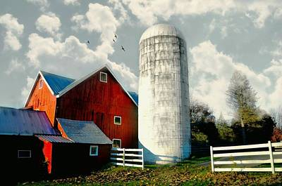 Behind The Silo Poster by Diana Angstadt