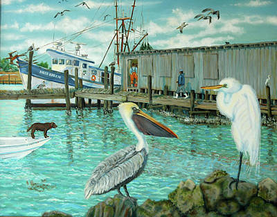 Poster featuring the painting Behind Wando Shrimp Co. by Dwain Ray