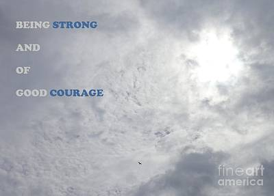 Being Strong With Courage Poster