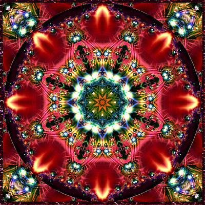 Poster featuring the digital art Bejewelled Mandala No 2 by Charmaine Zoe