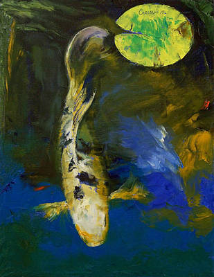 Bekko Butterfly Koi Poster by Michael Creese