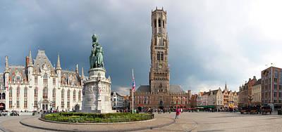 Belfry Of Bruges In The Historic Market Poster