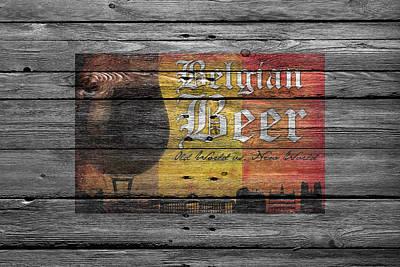 Belgian Beer Poster by Joe Hamilton