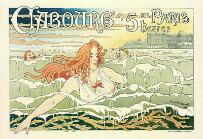 Belgian Poster For Le Casino De Cabourg Poster by Liszt Collection