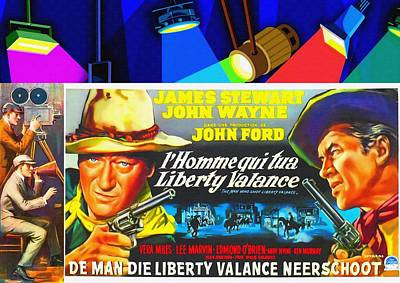 Belgian Poster Of The Man Who Shot Liberty Valance Poster by Art Cinema Gallery