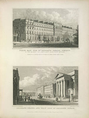 Belgrave Square And Chapel Poster by British Library