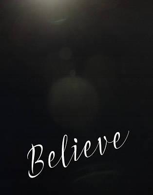 Believe Bokeh Poster