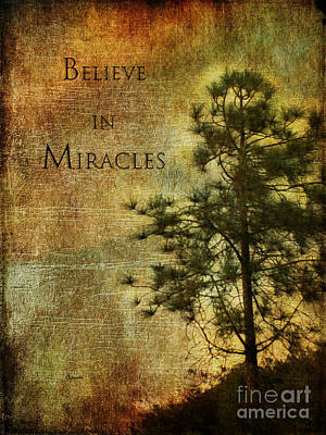 Believe In Miracles - With Text			 Poster