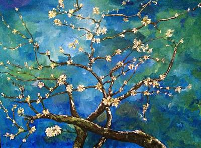Belinda's Almond Blossoms Poster by Belinda Low