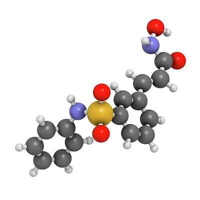 Belinostat Cancer Drug Molecule Poster by Molekuul