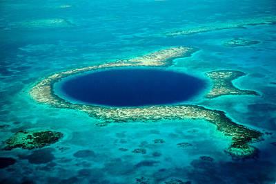 Belize Blue Hole Poster