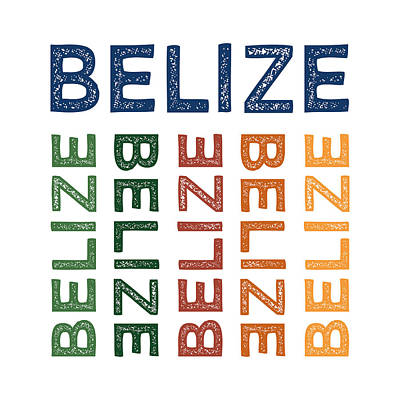 Belize Cute Colorful Poster by Flo Karp