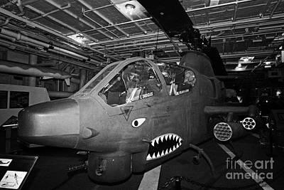 Bell Ah1 Cobra On The Hangar Deck Of The Intrepid Sea Air Space Museum Poster