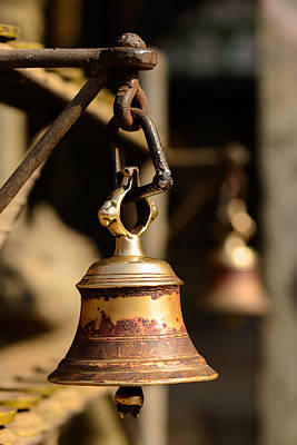 Bell In A Buddhist Temple In Kathmandu Poster