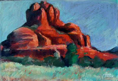 Poster featuring the painting Bell Rock Sedona by Linda Novick