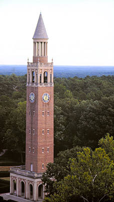 Bell Tower - Roof Shot - Unc Chapel Hill Poster