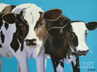Bella And Buttercup Poster by Elisabeth Olver