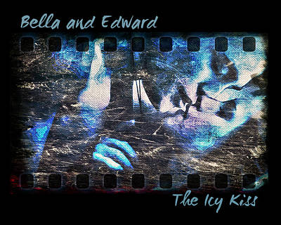 Bella And Edward - The Icy Kiss Poster by Absinthe Art By Michelle LeAnn Scott