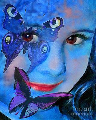 Bellafly In Blue Poster by Jeff McJunkin