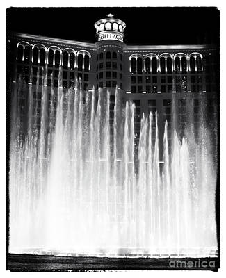 Bellagio Fountains I Poster by John Rizzuto