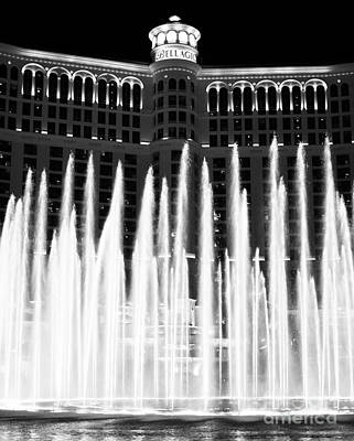 Bellagio Fountains IIi Poster by John Rizzuto