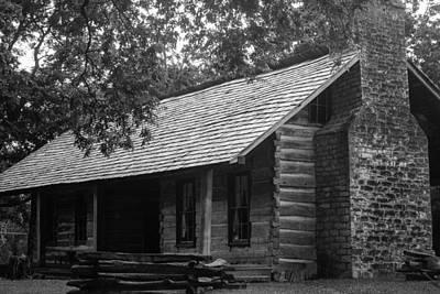 Belle Meade Log Cabin Poster by Robert Hebert