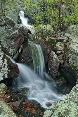 Below Mina Sauk Falls 4 On Taum Sauk Mountain Poster by Greg Matchick