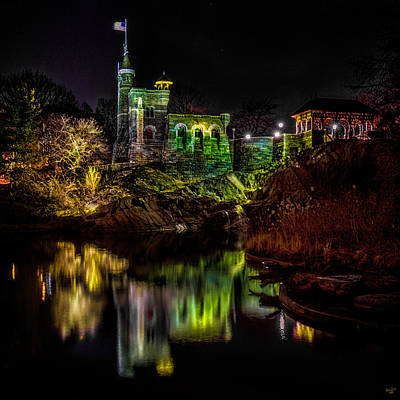 Belvedere Castle At Night Poster by Chris Lord