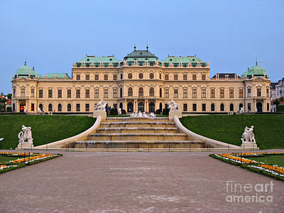 Belvedere Palace In Vienna Poster by Kiril Stanchev