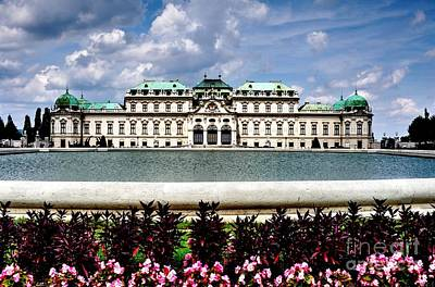 Poster featuring the photograph Belvedere Palace by Joe  Ng