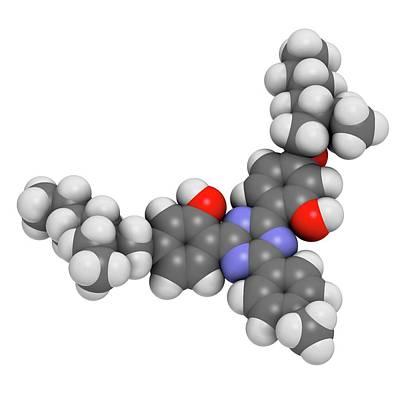 Bemotrizinol Sunscreen Molecule Poster by Molekuul