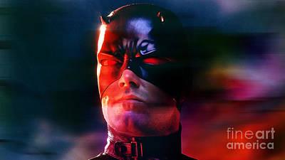 Ben Affleck Daredevil Poster by Marvin Blaine