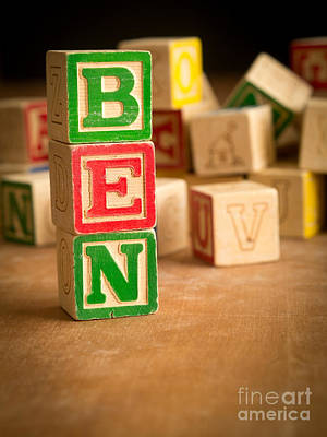 Ben - Alphabet Blocks Poster by Edward Fielding