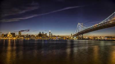 Ben Franklin Bridge Poster by Rob Dietrich