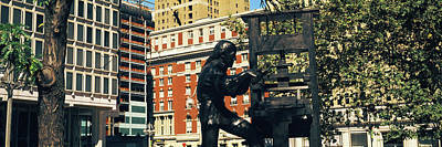 Ben Franklin Craftsman Statue Poster