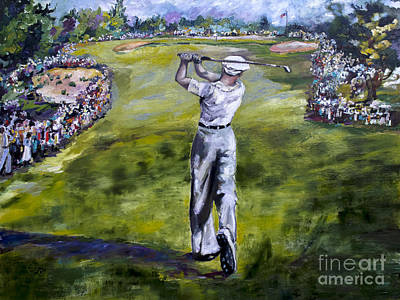 Ben Hogan Golf Painting Poster by Ginette Callaway