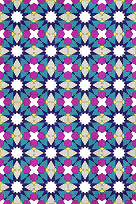Ben Yusuf Madrasa Geometric Pattern 1 Poster