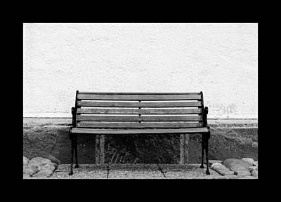 Bench At A Wall  Poster
