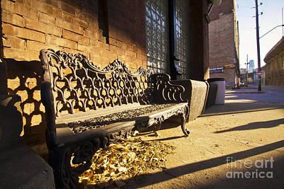 Bench At The Edge Of Hell Kansas City Mo Poster by Kaycee Johnson