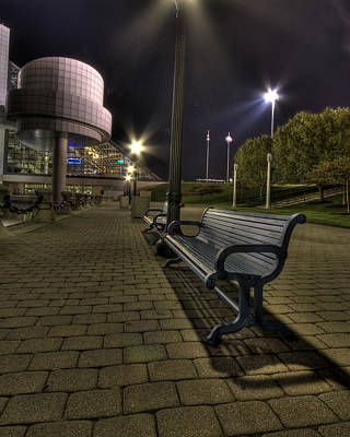 Bench At The Rock Hall Poster by Brent Durken
