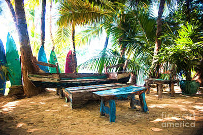 Benches Made From Boats Poster