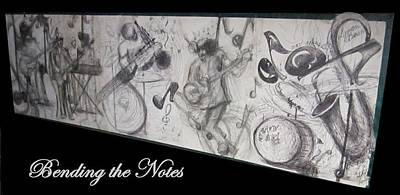 Bending The Notes Poster by Cathy Long