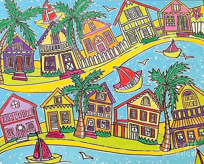 Bendy Key West Florida Usa Poster