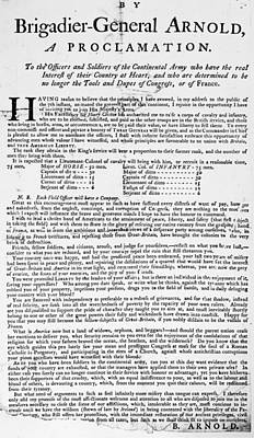 Benedict Arnold Treason Poster by Granger