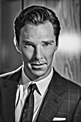 Benedict Cumberbatch Portrait Poster by Florian Rodarte