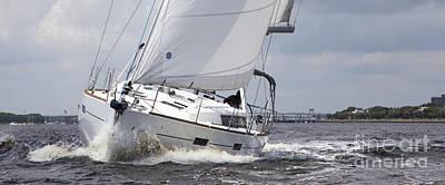 Beneteau Oceanis 45 Hull #1 Sailboat  Poster by Dustin K Ryan