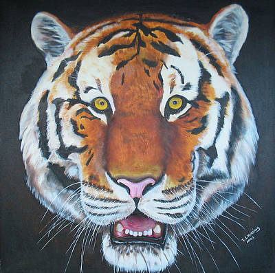 Poster featuring the painting Bengal Tiger by Thomas J Herring