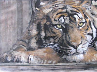Poster featuring the painting Bengal Tiger by Vikram Singh